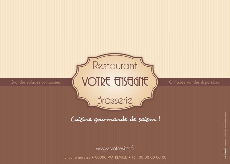 Set De Table Chocolat Personnalise Pour Restaurant
