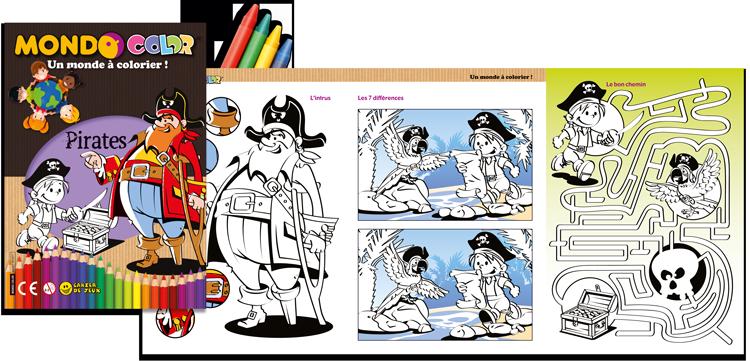 Coloriages pas cher, les pirates !