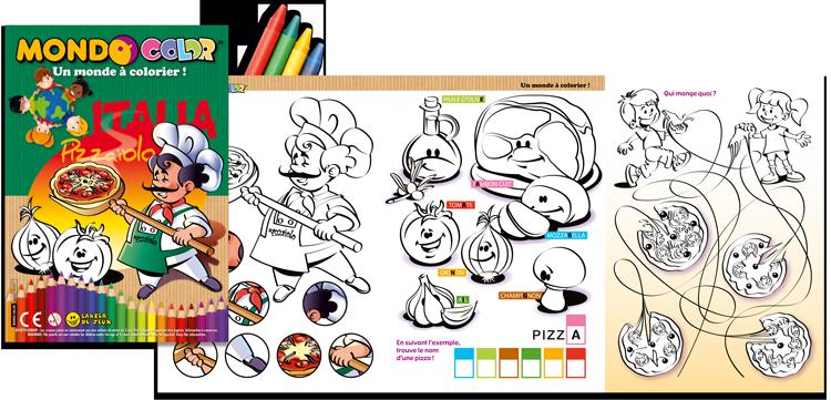 Jeux et coloriages pour pizzeria