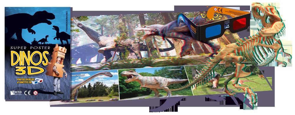Poster 3D Tyrannosaure