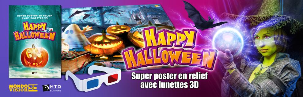 Poster Halloween 3D