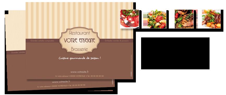 set de table personnalisé pour restaurant